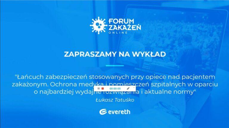Forum Zakażeń 2020 - wykład dyrektora handlowego Greenpol Łukasza Tatuśko na konferencji.